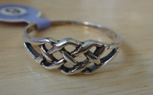 size 8 or 9 Celtic Knot Sterling Silver Ring