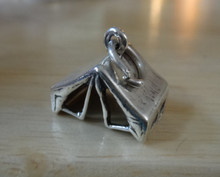 16x13mm Camping Tent Scouts Sterling Silver Charm