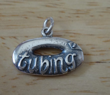 13x19mm Inner Tubing River Sterling Silver Charm