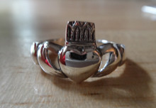 size 6 or 9 Claddagh Irish Love Symbol Sterling Silver Ring