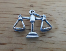 17x14mm Scales of Justice Libra Zodiac Sterling Silver Charm