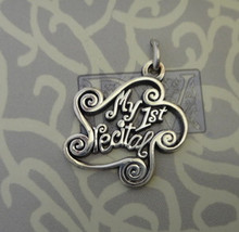 20x17mm says My First Recital Sterling Silver Charm