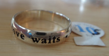size 5 6 7 8 9 10 or 11 Abstinence True Love Waits Sterling Silver Ring