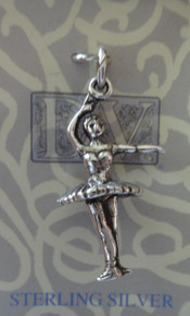 Ballet 3rd Position Sterling Silver Charm