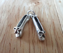 Movable Ballet Slippers Sterling Silver Charm
