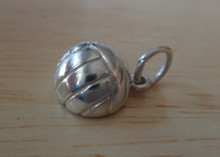 Large 3/4 Hollow Volleyball Sterling Silver Charm