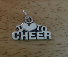says I Love to Cheer Sterling Silver Charm