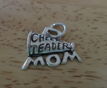 1/2 Sm Cheerleader Mom Megaphone Sterling Silver Charm
