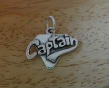 Cheerleader Drill Team Sports Captain Sterling Silver Charm