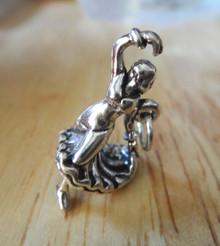 3D 14x22mm Spanish Spain Flamenco Dancer Sterling Silver Charm