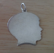 21x24mm Boy Engraveable Silhouette Sterling Silver Charm
