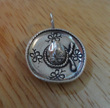 Large Mexican Sombrero Hat Sterling Silver Charm