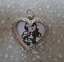 Engravable Heart Picture Frame Sterling Silver Charm