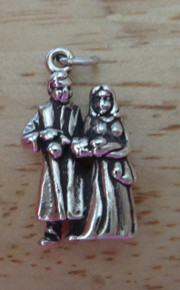 Baby's Baptism Mother & Minister Sterling Silver Charm