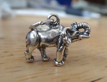 11x15mm 3D Elephant Sterling Silver Charm