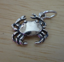 15x12mm Cancer the Crab Sign of Zodiac Sterling Silver Charm