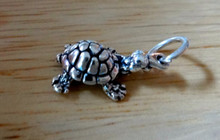 10x17mm Small Box Turtle Sterling Silver Charm