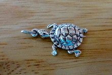 18x23mm Box Turtle Sterling Silver Charm
