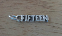 5x19mm Number Fifteen or 15 15th Birthday Sterling Silver Charm