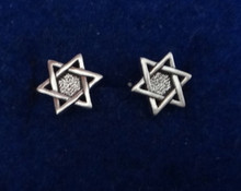 TINY 9mm Star of David Studs Posts Sterling Silver Earrings