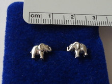 TINY 8x10mm Elephant Sterling Silver Studs Posts Earrings