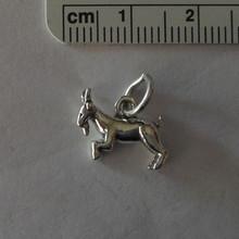 3D Capricorn Goat Sign Zodiac Sterling Silver Charm