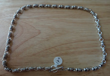 """16"""" or 18"""" Vintage Look 5mm Thai Knot Sterling Silver Charm Necklace"""