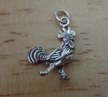 Chicken Fancy Rooster Sterling Silver Charm