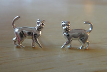 TINY Cat Studs Posts Sterling Silver Earrings