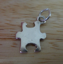 13x18mm Puzzle Piece Game Sterling Silver Charm