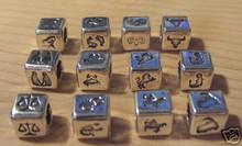 7 mm Zodiac Sterling Silver Block Beads