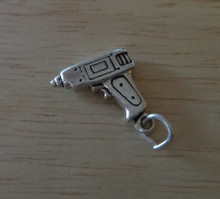 Carpenter Tool Power Drill Sterling Silver Charm