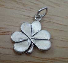 13x17mm 3 Leaf Shamrock St Patrick's Day Sterling Silver Charm