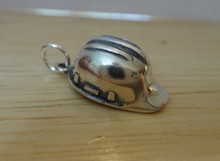 Construction Hard Hat Sterling Silver Charm