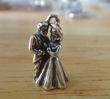 10x18mm Bride & Groom Wedding Party Sterling Silver Charm