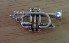23x13mm Trumpet Bugle Music Instrument Sterling Silver Charm
