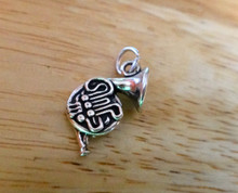 20x12mm French Horn Music Instrument Sterling Silver Charm