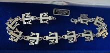 "8.25"" Sterling Silver ATM Aggie Texas A&M University Link Bracelet"