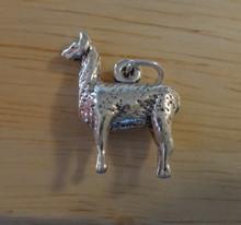 3D 15x19mm LLama Sterling Silver Charm