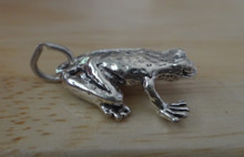 14x18mm Sterling Silver Medium Sized Spotted Frog Toad Charm!