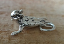 3D 10x15mm Sterling Silver TCU Texas Horned Toad Frog Charm