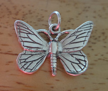 23x15mm Monarch Butterfly Sterling Silver Charm!