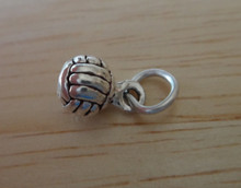 3D Solid 6 mm Volleyball Water Polo ball Sterling Silver Charm!