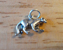 3D 11x19mm Panther Mountain Lion Wildcat Cougar Sterling Silver Charm!