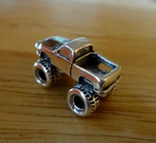 11x21mm Big Wheel Pick-up Monster Truck Sterling Silver Charm