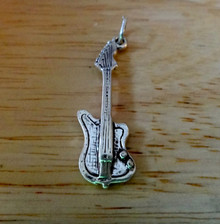 11x30mm Electric Guitar Music Instrument Sterling Silver Charm