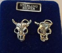 Southwest Steer Cow Bull Skull Sterling Silver Charm