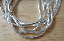 """16"""", 18"""", 20"""", 24"""", or 30"""" 1.5 mm thick 8 Sided Snake Sterling Silver Chain"""