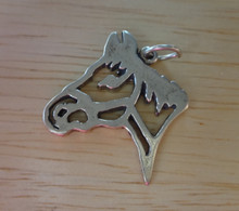 Outline of the Head of a Horse Sterling Silver Charm