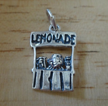 21x19mm Lemonade Stand with Child Sterling Silver Charm